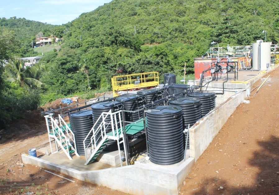 THIS NEW wastewater treatment plant was recently installed in St. Thomas in the US Virgin Islands by