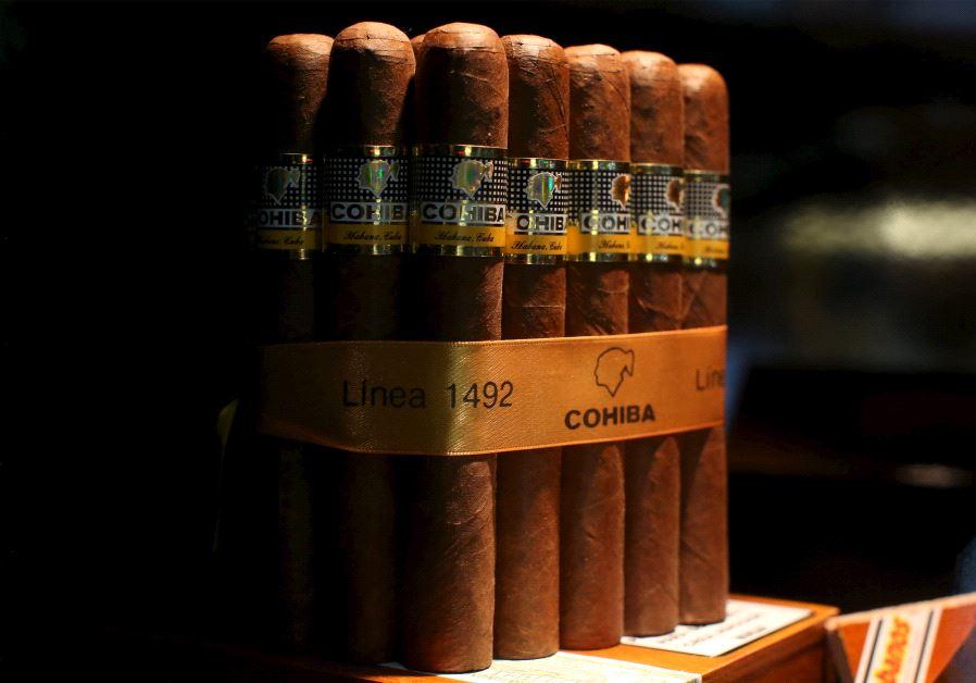 Cohiba cigars are seen on display at the XVIII Habanos Festival in Havana