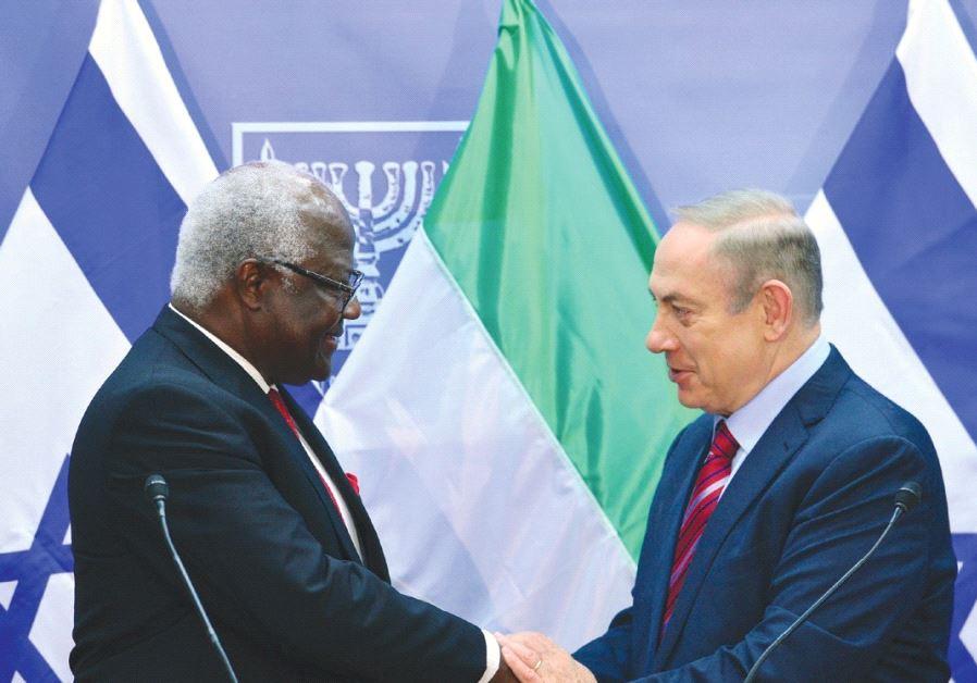 PRIME MINISTER Benjamin Netanyahu welcomes Sierra Leone President Ernest Bai Koroma in Jerusalem ye