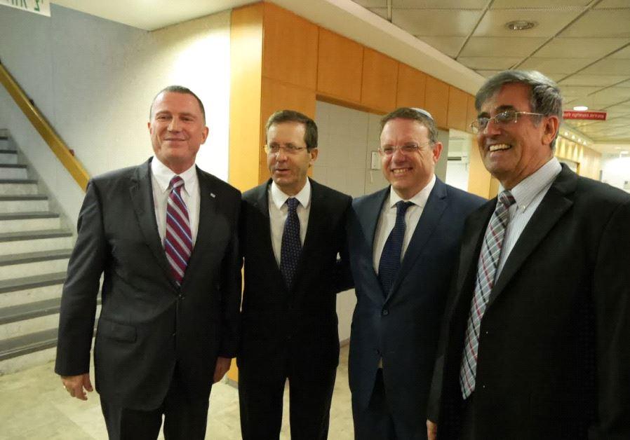 Left to right Edelstein Herzog Hagoel Ohayon