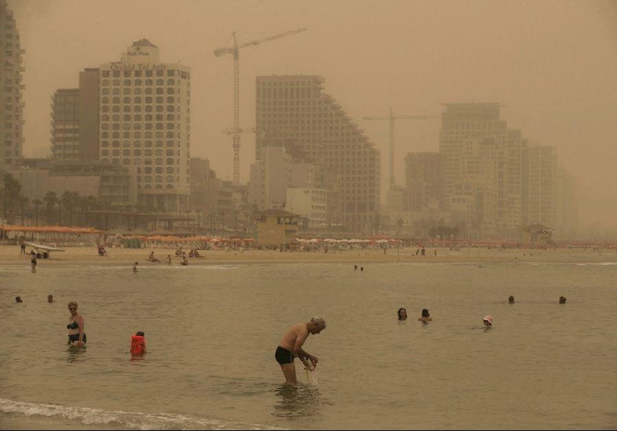 israel sand storm