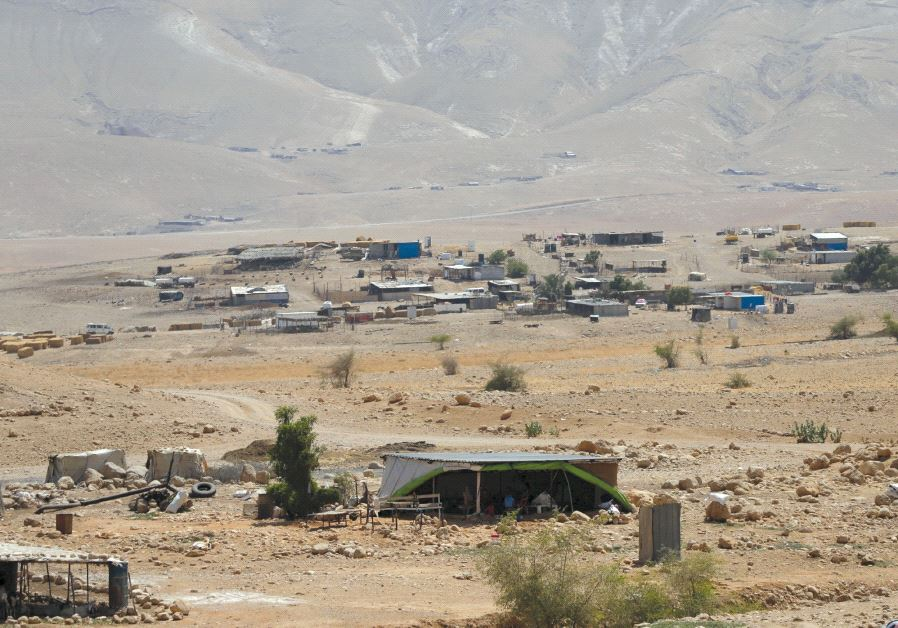 A PALESTINIAN Beduin village near Jericho. Disputes over land in the West Bank often end up decided