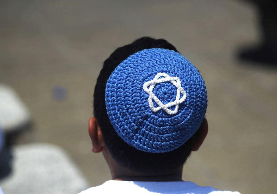 A child wearing a Kippah