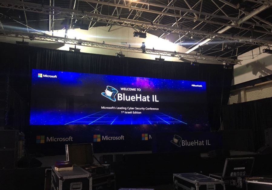 Microsoft Israel setting up for BlueHat IL event taking place this week.