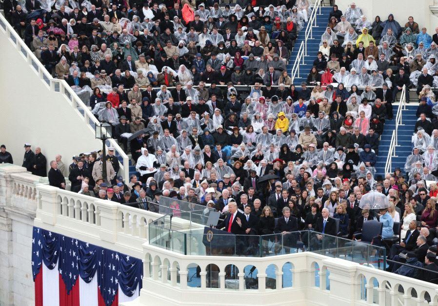 US PRESIDENT Donald Trump speaks at the inauguration last week.