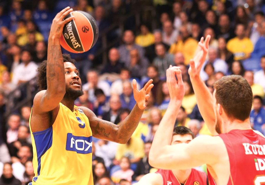 Victor Rudd (left) has been one of the lone bright spots in Maccabi Tel Aviv's disappointing Eurolea