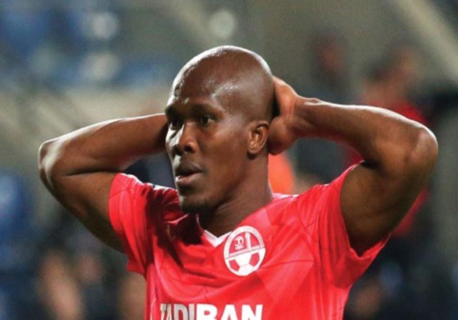 Hapoel Beersheba forward Anthony Nwakaeme couldn't help his team avoid a shocking State Cup exit in