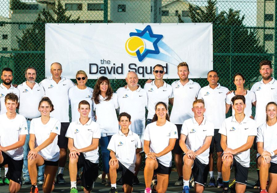 Adam Coffer (top row, fifth from right, with the players and staff of the David Squad) believes spor