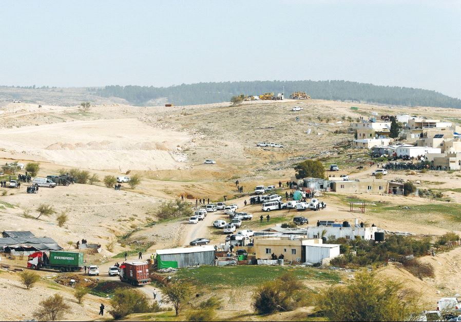 A VIEW of Umm Al-Hiran, the Beduin village in the southern Negev Desert demolished by police last we