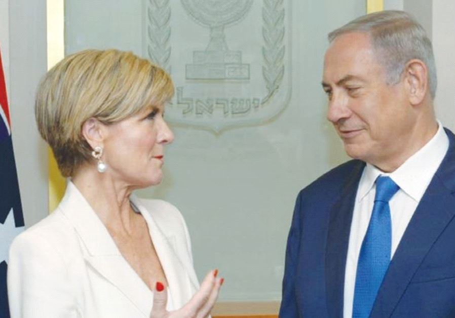 PRIME MINISTER Benjamin Netanyahu meets with Australian Foreign Minister Julie Bishop at the Prime M