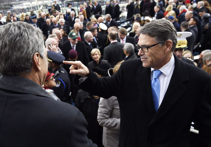US Energy Secretary nominee Rick Perry leaves after the Presidential Inauguration of Donald Trump on