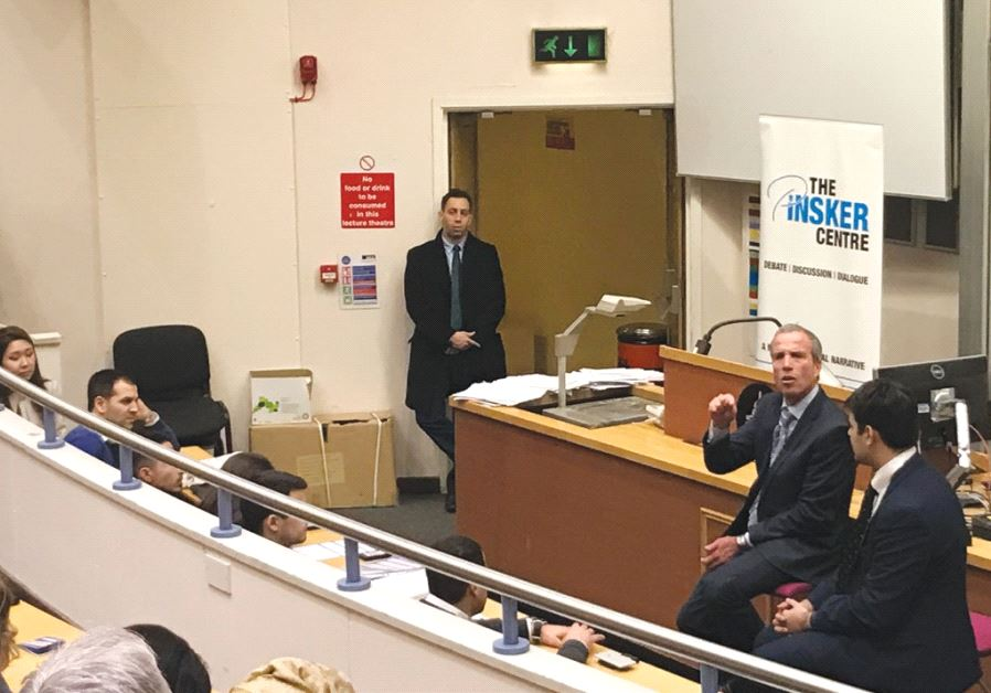 MK ELAZAR STERN addresses an audience at University College London on Tuesday