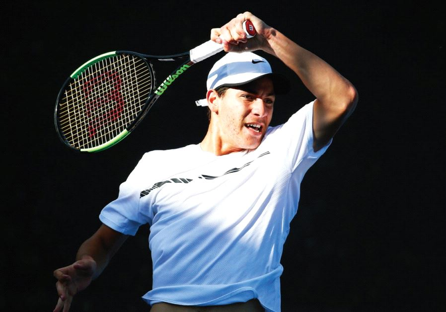 Yshai Oliel is set to make his Davis Cup debut for Israel today