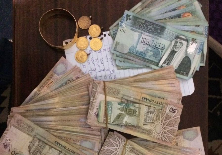 Funds seized by security forces.