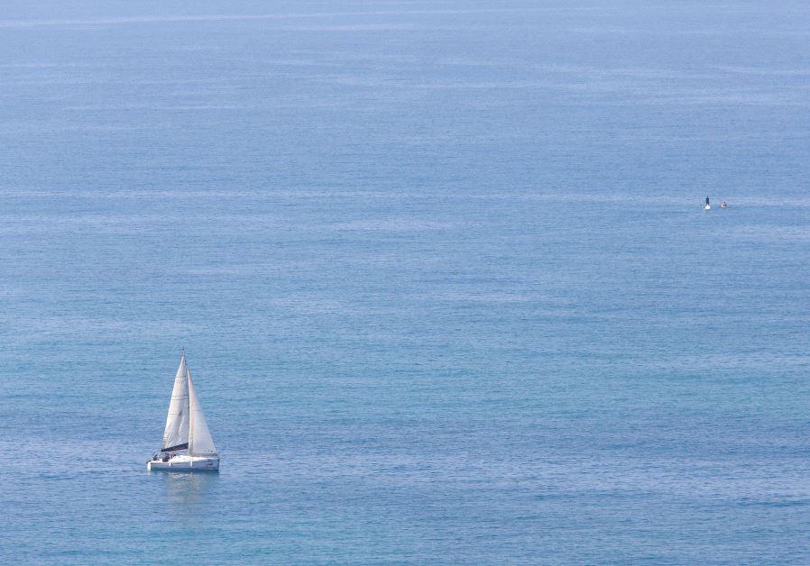 A boat sail in the sea