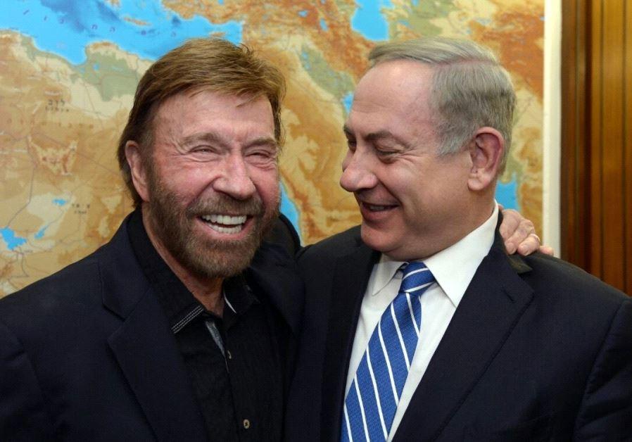Benjamin Netanyahu and Chuck Norris