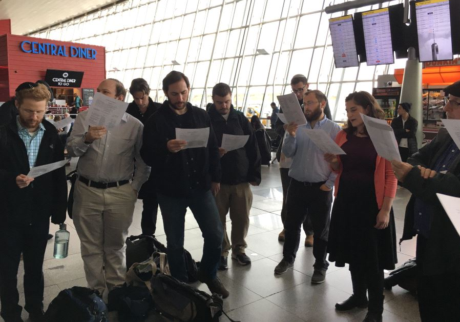 Jewish prayer session held at JFK in solidarity with refugees