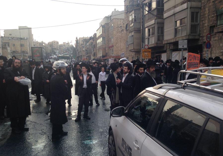 Haredi protest in Jerusalem