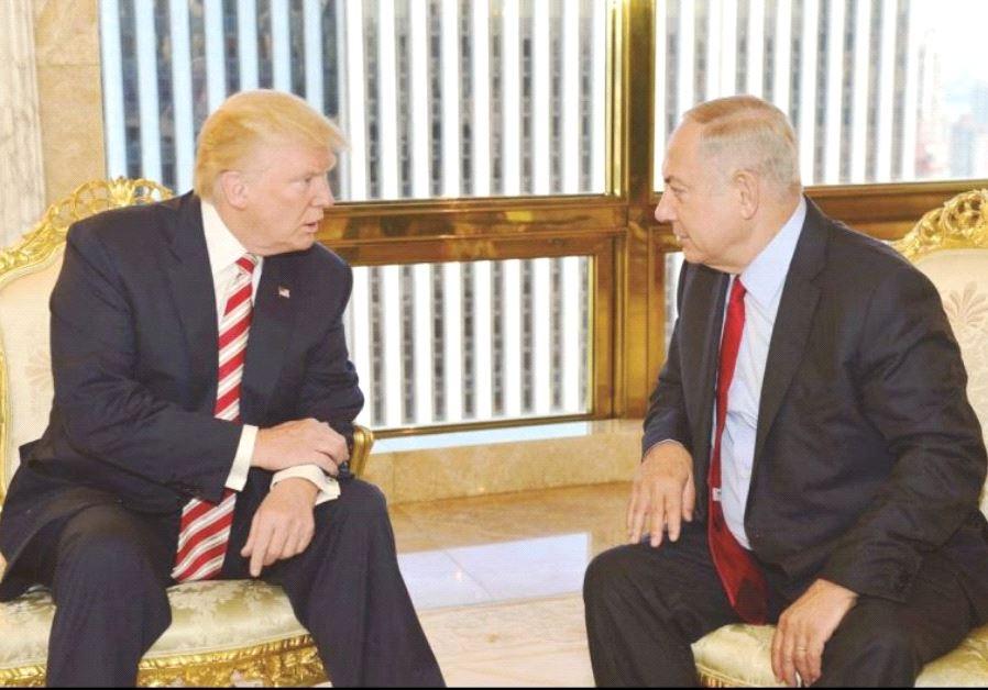 Donald Trump and Benjamin Netanyahu