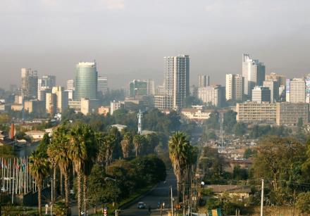A general view shows the cityscape of Ethiopia's capital Addis Ababa
