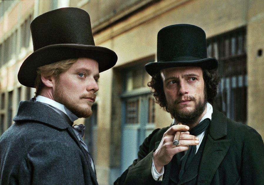 STEFAN KONARSKE (left) and August Diehl star in Raoul Peck's 'Young Karl Marx.'