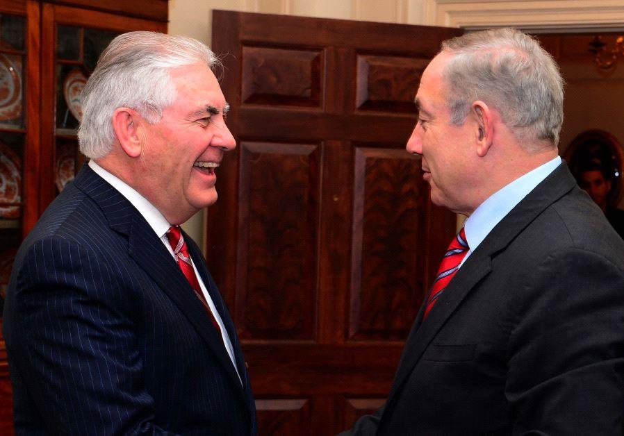 Benjamin Netanyahu and Rex Tillerson