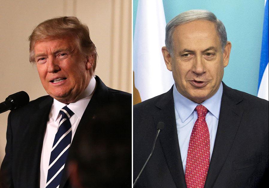 Trump and Netanyahu (photo credit: REUTERS)