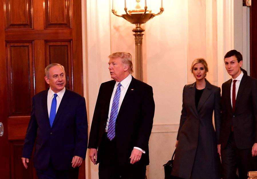 Benjamin Netanyahu meets Donald Trump at the White House