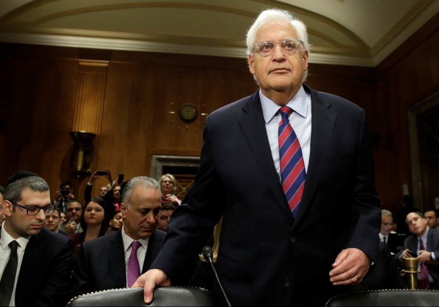 David Friedman arrives at a Senate Foreign Relations Committee hearing on his nomination of to be US ambassador to Israel (photo credit: REUTERS)