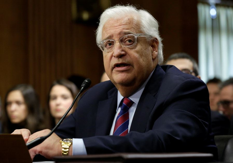 US Ambassador Friedman Tells State Dept. to Stop Using WOrd 'Occupation'