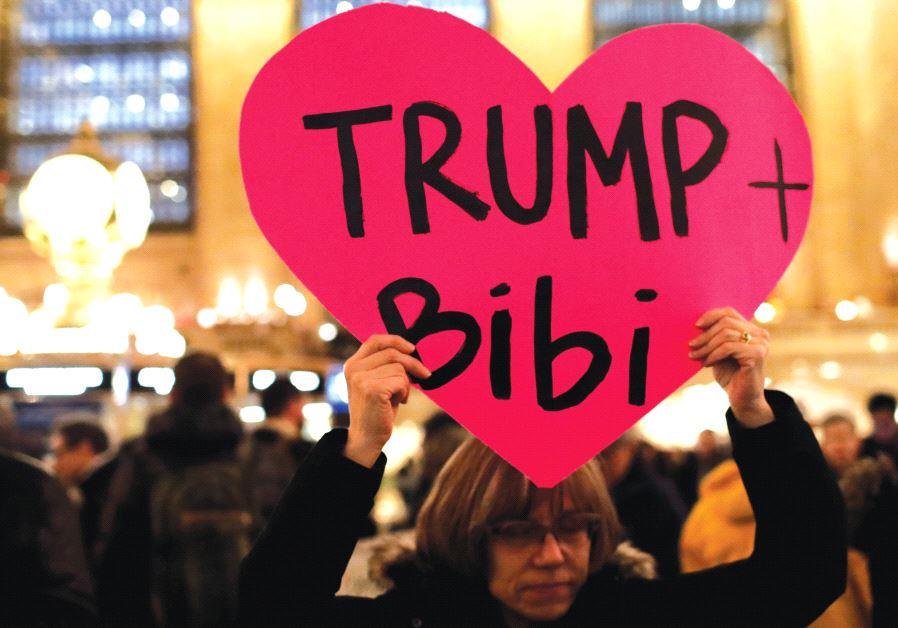 Trump Netanyahu heart