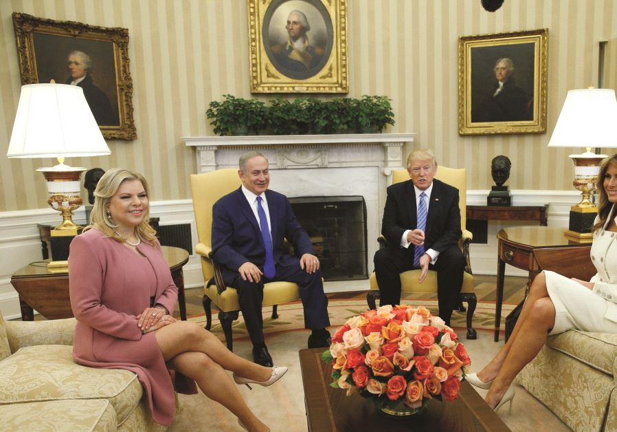 Benjamin Netanyahou, Donald Trump et leurs épouses