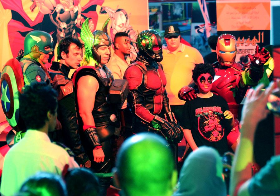 Spectators attend Comic Con expo in Jeddah, Saudi Arabia