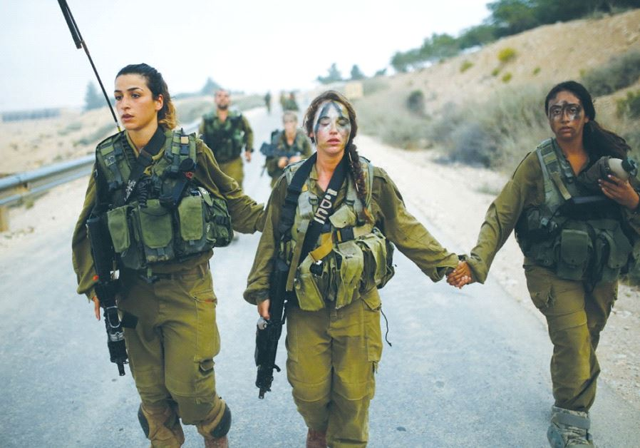 CARACAL BATTALION soldiers march in the Negev in 2014.