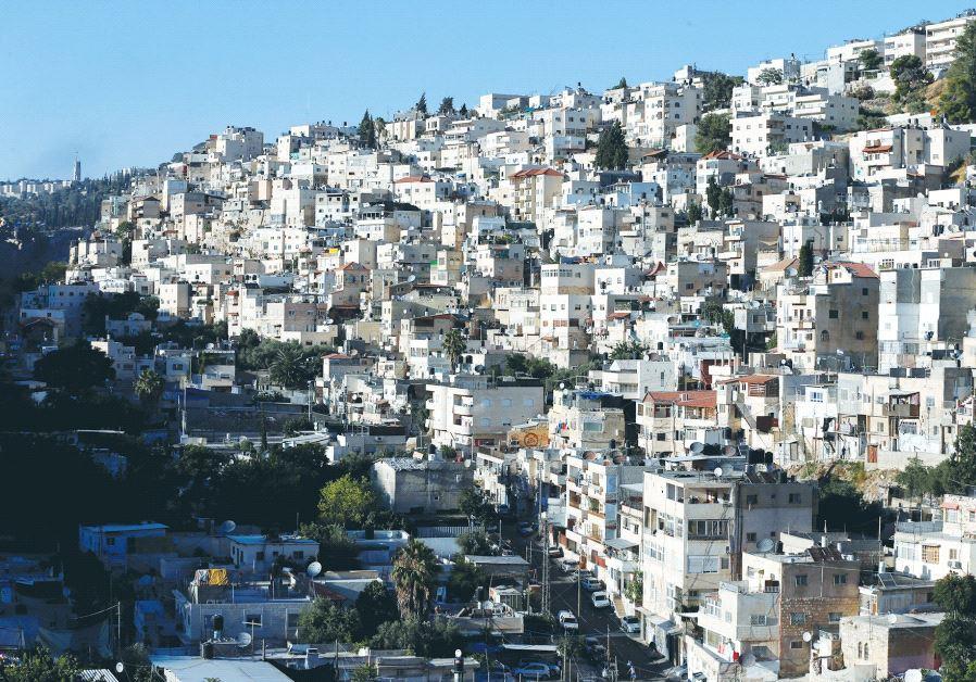 JERUSALEM'S ARAB neighborhood of Silwan is seen last summer