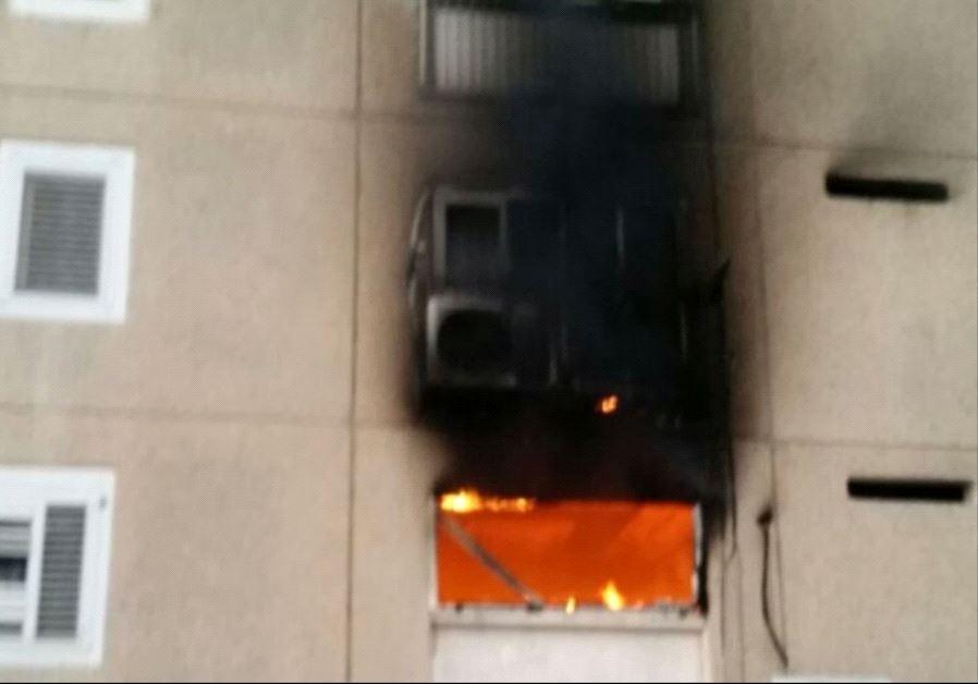 Apartment fire in Dimona