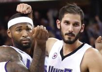 ISRAELI FORWARD Omri Casspi (right) was packaged with his All-Star teammate from the Sacramento King
