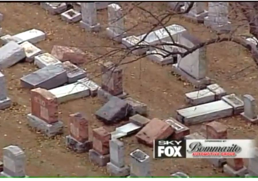 FOX2NEWS broadcasts footage of vandalized headstones at a St. Louis area Jewish cemetery