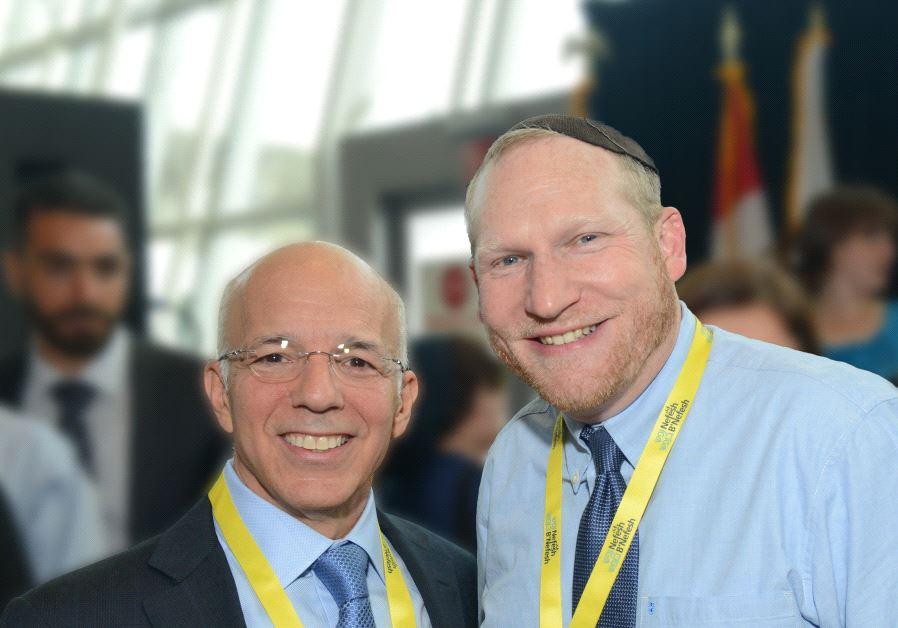 NEFESH B'NEFESH co-founders Rabbi Yehoshua Fass and Tony Gelbart.