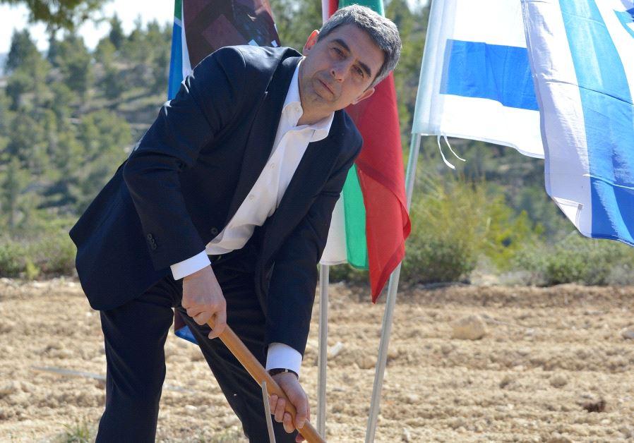 Former Bulgarian president plants a tree in Jerusalem