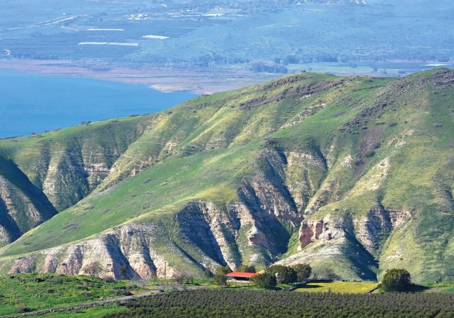 View of Lake Kinneret from Road 789 (photo credit: ITSIK MAROM)