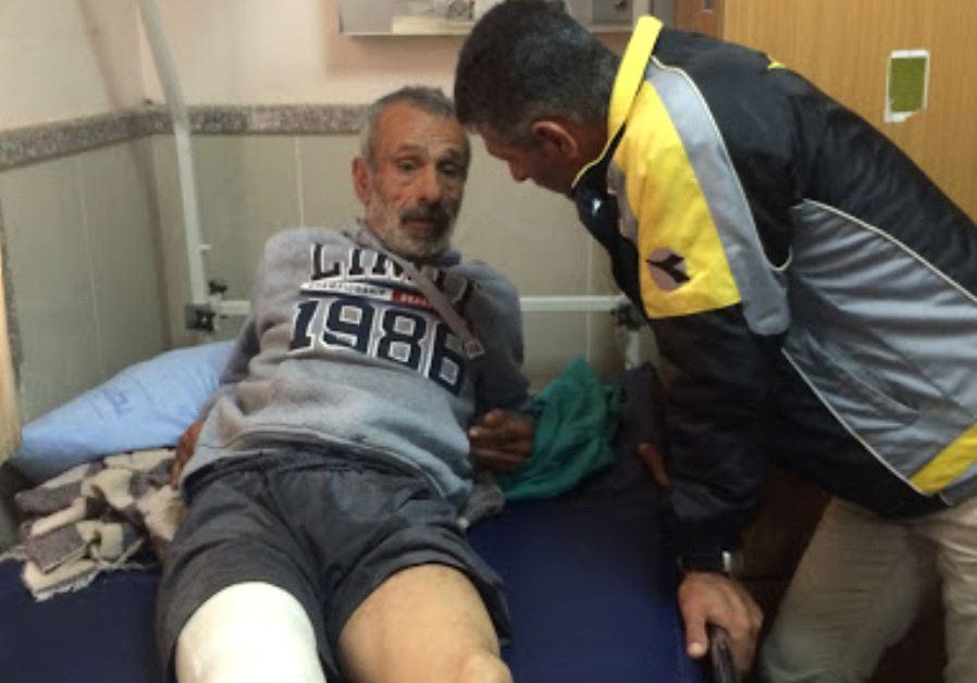 Hussein Kawareek, 54, at Rafidiya Hospital in Nablus