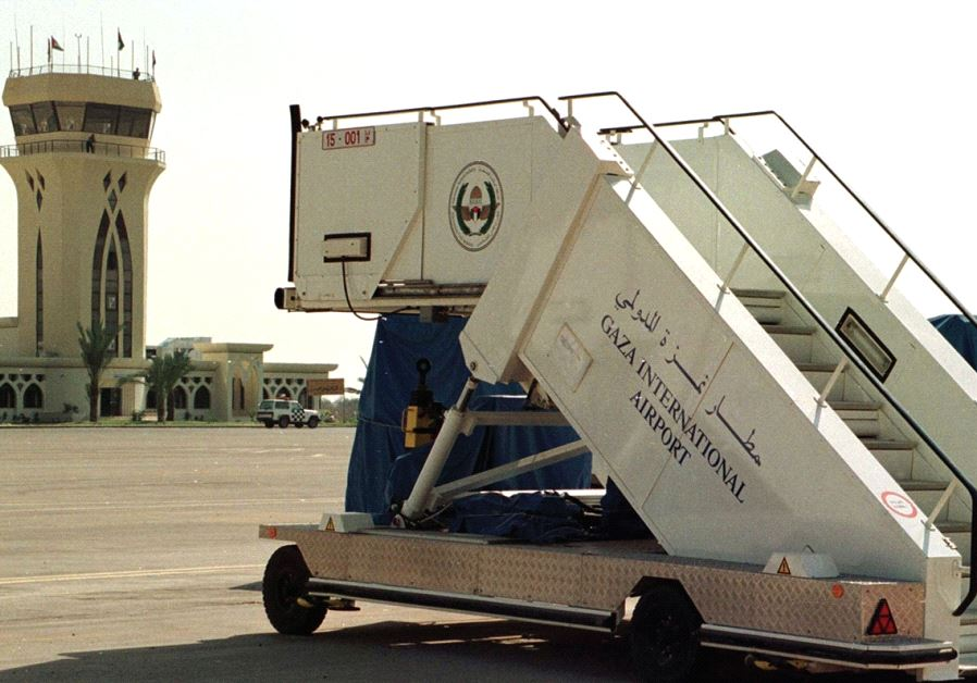 A MOBILE stairway at Gaza's airport in 1998