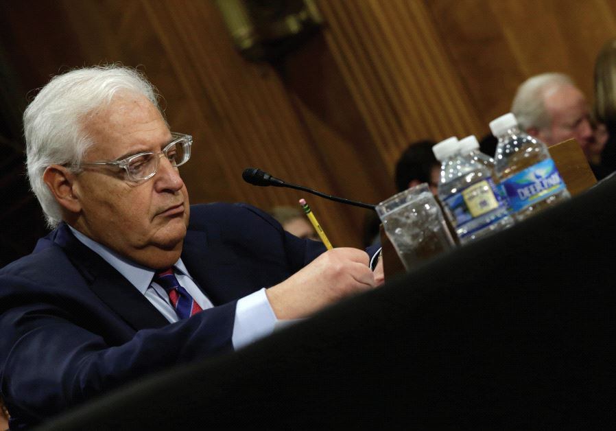 DAVID FRIEDMAN testifies before a Senate Foreign Relations Committee hearing on his nomination to be