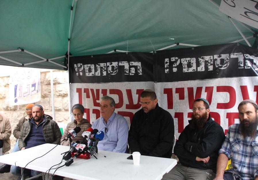 settler hunger strike