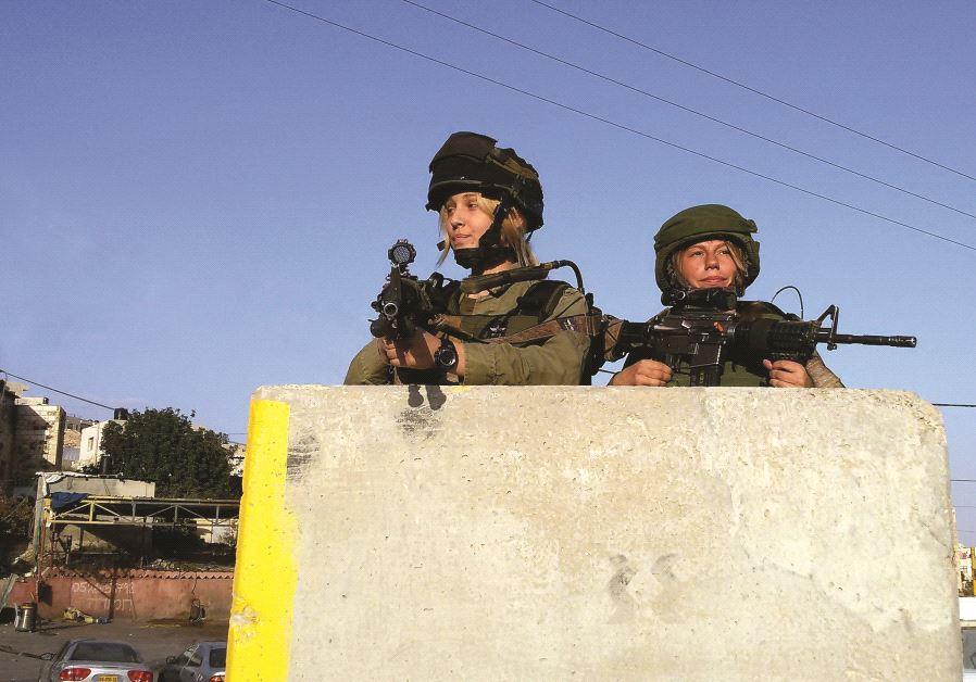 Soldates de l'unité combattante Masada  à proximité du village de Hizma