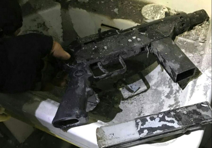 A weapon recovered in a raid in the Ramallah, March 6
