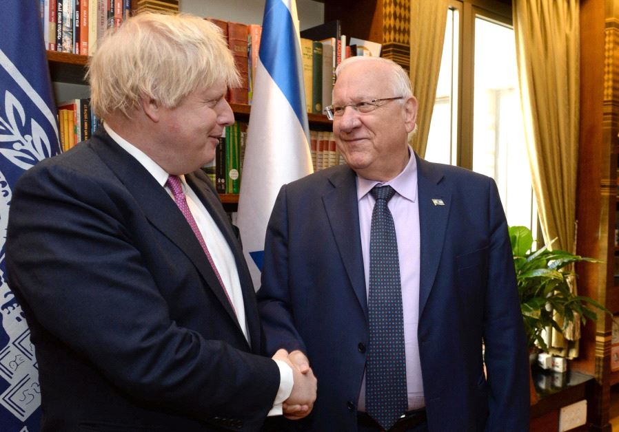 Boris Johnson Israel