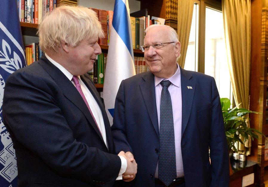 Boris Johnson Israel