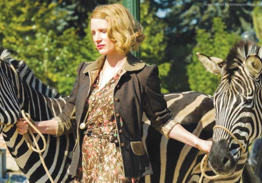 JESSICA CHASTAIN stars in the upcoming Holocaust drama 'The Zookeeper's Wife.'